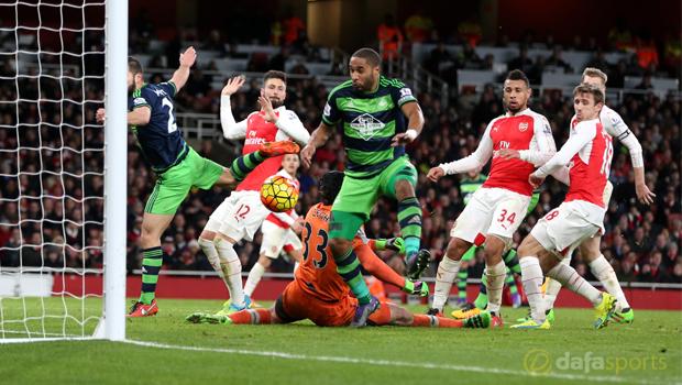Arsenal v Swansea City Ashley Williams