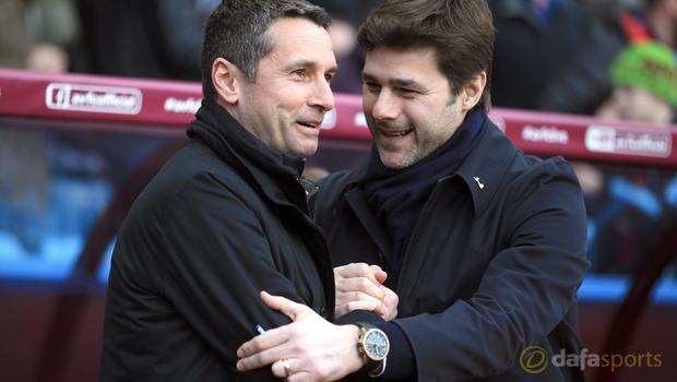 Aston Villa Remi Garde and Tottenham Hotspur Mauricio Pochettino