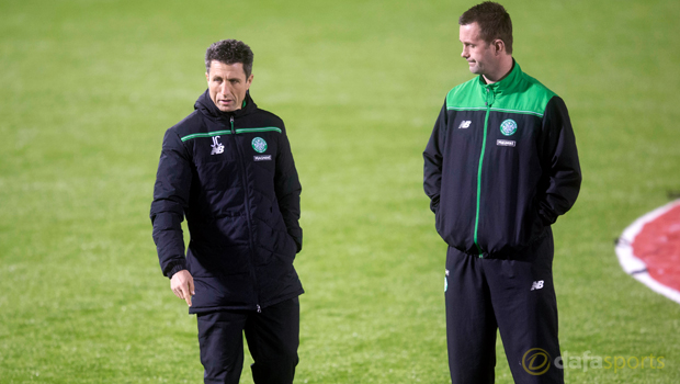 Celtic manager Ronny Deila and assistant John Collins