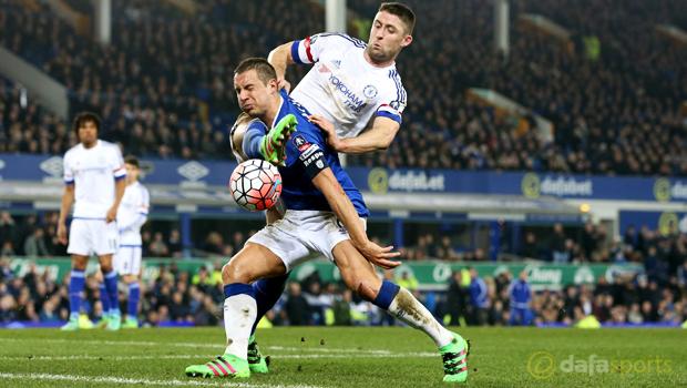 Chelsea v Everton Phil Jagielka
