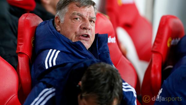 Crystal Palace v Sunderland manager Sam Allardyce