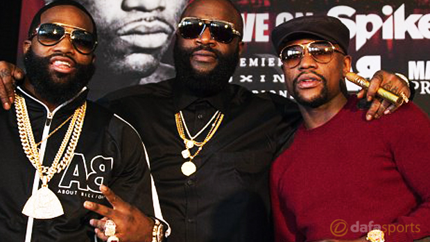 Floyd Mayweather and Adrien Broner