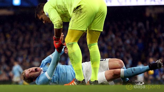 Manchester City Kevin De Bruyne injured