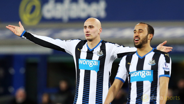 Newcastle United Andros Townsend and Jonjo Shelvey