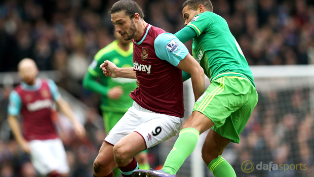 West Ham forward Andy Carroll