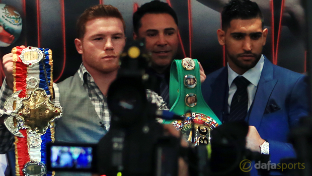 Amir Khan v Saul Alvarez Boxing