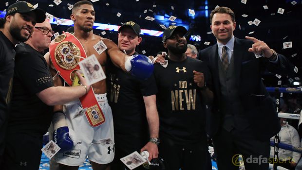 Anthony Joshua v Charles Martin and Eddie Hearn