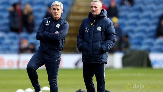 Blackburn Rovers boss Paul Lambert Championship