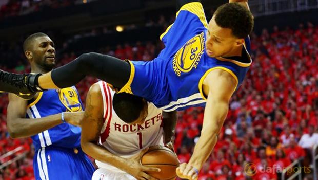 Golden State Warriors V Houston Rockets nba playoffs steph curry