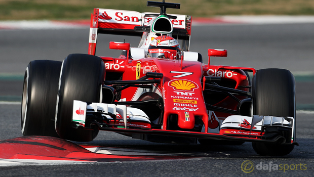 Kimi Raikkonen Ferrari ahead of Russian Grand Prix
