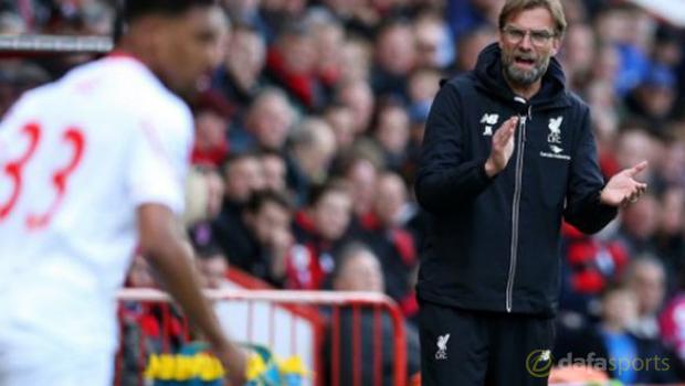 Liverpool manager Jurgen Klopp and Jordan Ibe