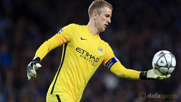 Manchester City goalkeeper Joe Hart Champions League