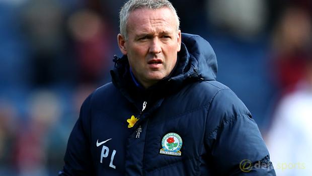 Rovers manager Paul Lambert