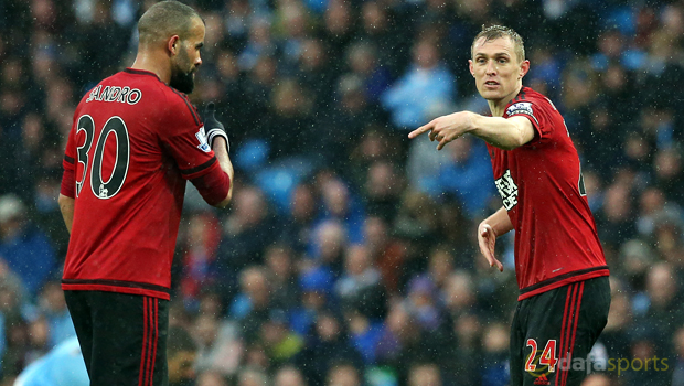 West Bromwich Albion Sandro and Darren Fletcher