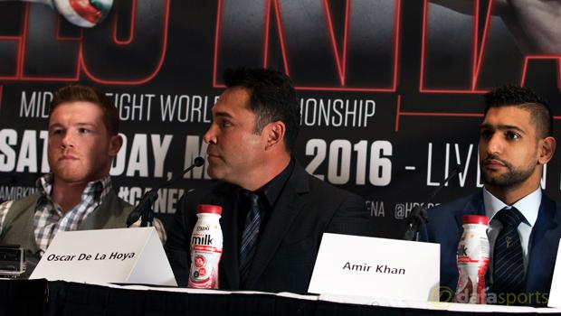 Amir Khan v Saul Alvarez Boxing WBC middleweight title