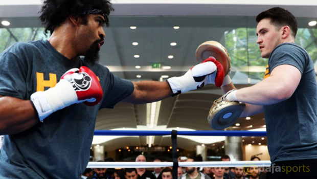 Boxing Trainer Shane McGuigan with David Haye