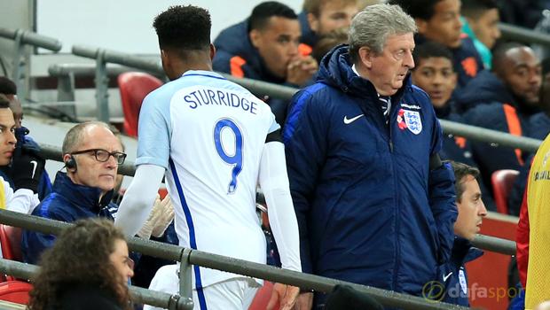 England Daniel Sturridge and Roy Hodgson Euro 2016