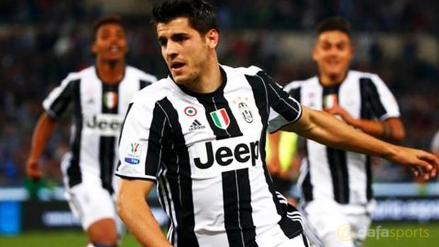 Juventus striker Alvaro Morata Coppa Italia