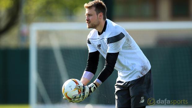 Liverpool goalkeeper Simon Mignolet Europa League