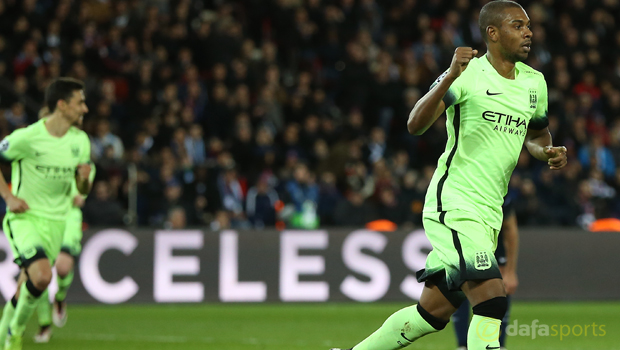 Manchester City midfielder Fernandinho Champions League