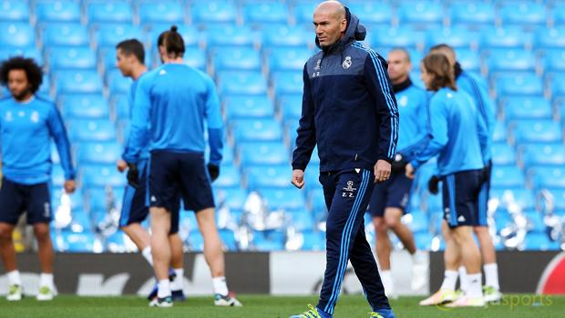 Real Madrid manager Zinedine Zidane Champions League