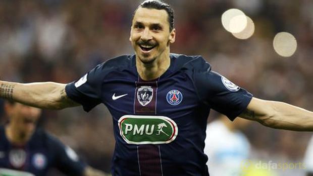 Zlatan Ibrahimovic PSG v Marseille