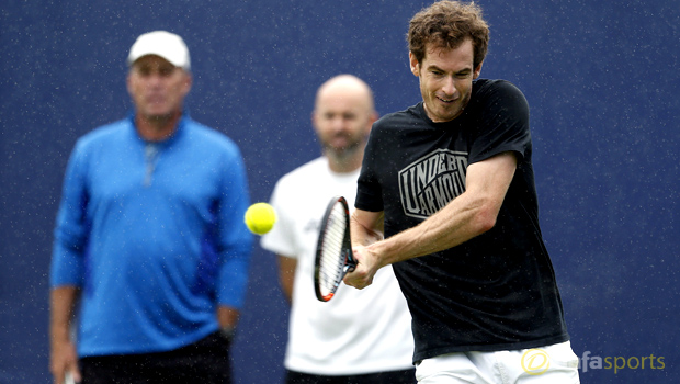 Andy Murray and his coach Ivan Lendl