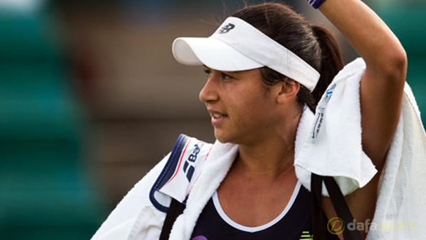 Heather Watson vs Magdalena Rybarikova Aegon Open
