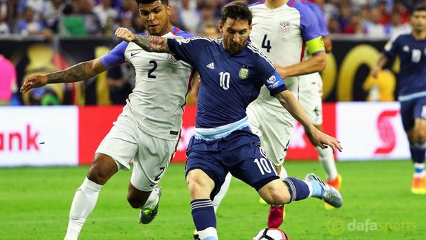 Lionel Messi Argentina vs USA Copa America