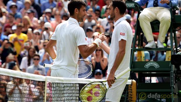 Wimbledon 2016 Novak Djokovic vs James Ward