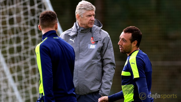 Arsene-Wenger-and-Santi-Cazorla-Arsenal