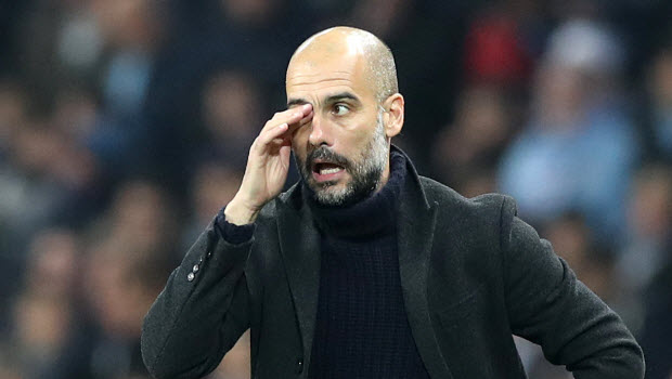 Manchester City manager Pep Guardiola - not moving for defender