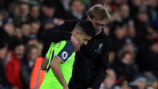 Liverpool-midfielder-Philippe-Coutinho-and-Jurgen-Klopp