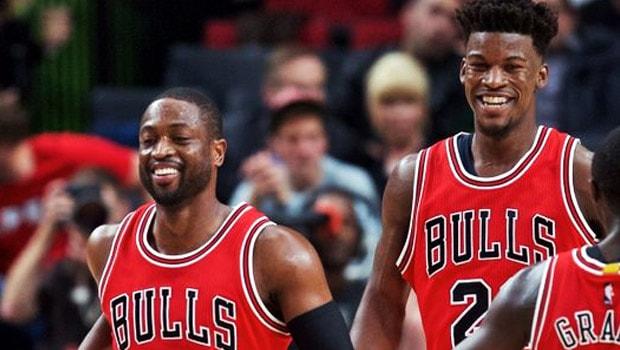 Dwayne Wade and Jimmy Butler Chicago Bulls NBA