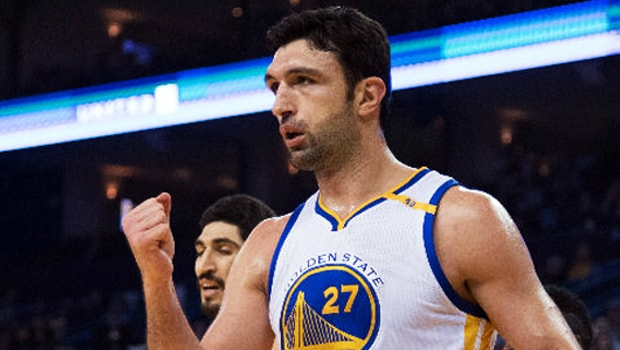 Golden-State-Warriors-Zaza-Pachulia-and-David-West-NBA