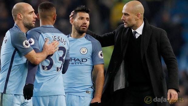 Pep-Guardiola-and-Sergio-Aguero-Manchester-City