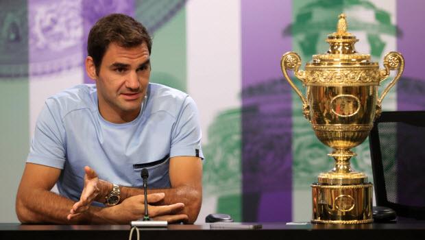 Switzerland's Roger Federer Wimbledon 2017
