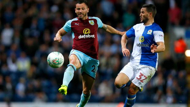 Craig Conway - Phillip Bardsley - Blackburn Rovers v Burnley - Carabao Cup