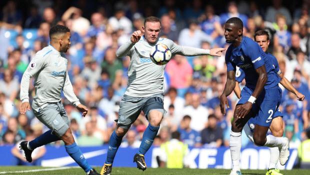 Wayne Rooney - Aaron Lennon - Chelsea v Everton - Premier League