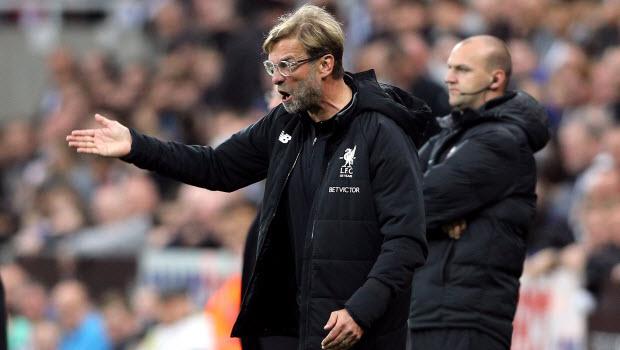 Liverpool manager Jurgen Klopp during the Premier League match at St James' Park, Newcastle